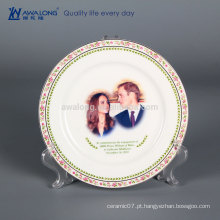8 polegadas Fine Bone China placas decorativas para impressão de fotos, decorativas penduradas Wall Plates