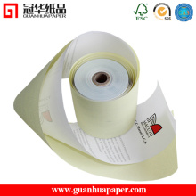 Blanc / Rose / Jaune 3 Ply Cash Register Paper
