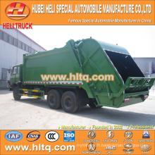 DONGFENG 6x4 16/20 m3 récupérateur de recharge collecteur à ordures moteur diesel 210hp avec mécanisme de pressage