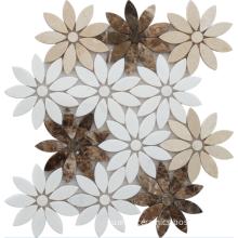 fantastic flower marble mosaic design