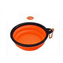 New Design Collapsible Pet Food Bowls Set Outdoor Folding Dog Bowls Foldable Double Pet Bowls