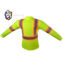Wholesale Construction Work Birdseye Moisture Wicking Short Sleeve High Visibility Hi Vis Safety Reflective Polo T Shirt
