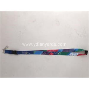 Multi-colored lanyards with dye sublimation printing