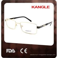 Usine d'approvisionnement en métal hommes lunettes personnalisé lunettes optiques montures usine