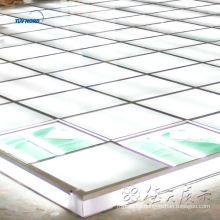 piso elevado sistema de piso de vidrio de iluminación para servicio de feria