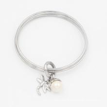 Salut qualité empilant le bracelet en acier inoxydable 316L avec des charmes personnalisés