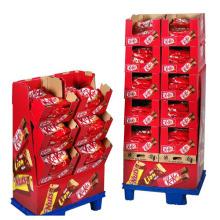 Kitkat Cardboard Chocolate Display Stands