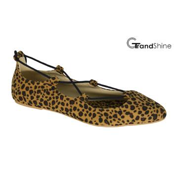 Zapatos de ballet punteado-dedo del pie de la manera plana de las mujeres