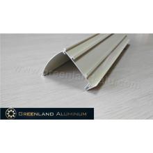 Trilho de cabeça de alumínio para estores zebra revestidos a pó branco