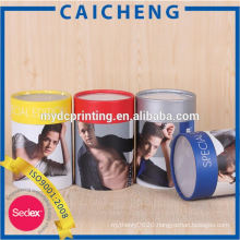 Creative Paper Round Tube Packaging Box for T-shirt