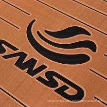 custom shape low MOQ anti UV self adhesive stripe sheet boat yacht eva boat decking sheet marine teak flooring