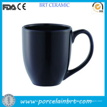 Black Handled Ceramic Beer Cup