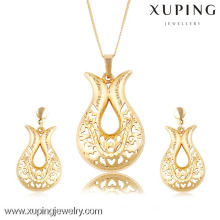 New Simple Design Wedding Gold Plated Jewelry Sets For Girls