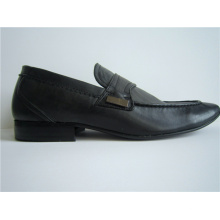 Black PU Leather Mens Office Shoes