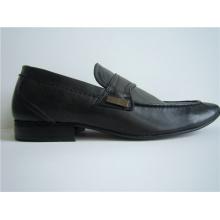 Sapatos pretos de couro para homem em couro PU