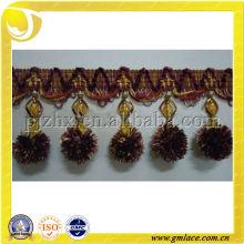 Guarnición de la bola / pom y frings para las cortinas o las cortinas de la lámpara