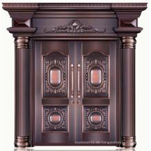 Gute Qualität 100% reines Kupfer Doppel-Haupttür Designs