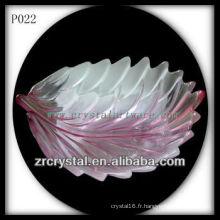 Magnifique récipient en cristal P022