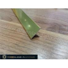 Perfiles de aluminio T Forma Transición Tile Trim para la decoración de la pared con el color del oro