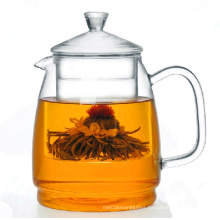 1200ml Borosilicate Hand Made Glass Pot, Borosilicate Glass Tea Pot 1200ml