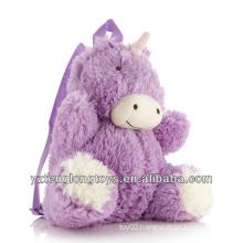 Factory Wholesale Animal Shaped Plush Backpack Unicorn Backpack