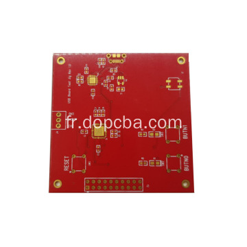 Carte rouge de carte PCB de prototype de masque de soudure 4layer