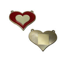 Bags Garments Accessories Heart Shaped Customized Metal Tag Metal Plate