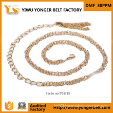 Fashion Gold Waist Chain Belt Nice Design for Dress