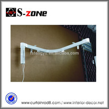 Double Open Motorized Bendable Curtain Track Electrical Curved Curtain Rail