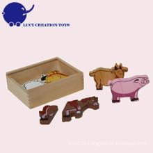 Hölzernes Kindertiermagnet-Spielzeug