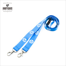 Cordon de polyester bleu à double crochet pour marque d'ordinateur célèbre avec Breakaways de sécurité