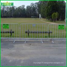 Barrière de protection en poudre utilisée pour le concert