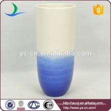 unique cup shape ceramic blue china vases
