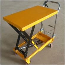 Mesa elevadora manual de tijera con ruedas de 350 kg