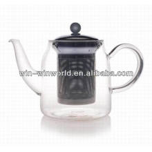 China Goods Wholesale Gift Handblown Glassware Borosilicate Glass Teapot With Strainer