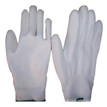 Weiß PU Handschuh Polyester PP Palm mit Ce