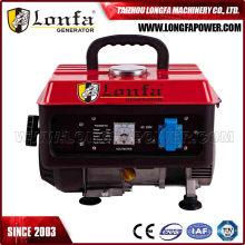 Generador de gasolina portátil de 500 W de potencia pequeña