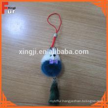 China Manufacturer lovely Mink Fur Keychain