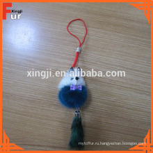 Китай Производитель прекрасный мех норки Брелок