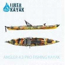 4.3m Fischen Kajaks mit Motor und 2in1 Sitz & Trolley