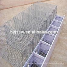 Jaula de alambre de acero para el visón, cultivando la jaula de visón para la venta