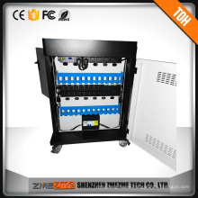 Led Indicator and Glass school electornic charging cart Charging Cabinet