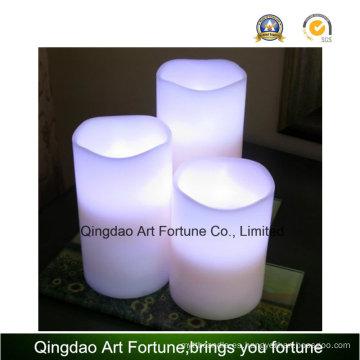 Vela LED sin llama de cera real con luz blanca cálida