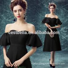 Vestido de moda negro elegante Vestidos de noche negro sexy para las mujeres Elegante vestido de fiesta negro de cóctel