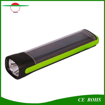 Heißer Verkauf 1W Hochleistungs-Sonnenenergie-Bank-Fackel-Licht-Notfall-Solar-Taschenlampe für bewegliches Aufladen