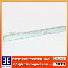 N42 permanente forma de tira forte ímãs de neodímio sinterizado / ímã forma ndfeb longo para custom-made