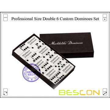 Professional Size Double 6 Custom Domino