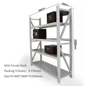 almacén de almacenamiento de herramientas metálicas, estante de productos de supermercado, estante de inventario