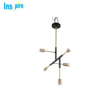 Modern art Italy designer chandelier metal tube hanging pendant light