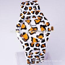 Cadeau de valentines 2015 ladies leopard pattern band elegance brand watch